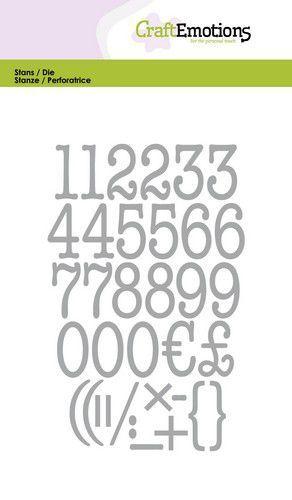 CraftEmotions Die - typewriter cijfers Card 10