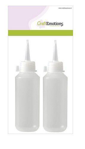CraftEmotions - fles met tuitdop transparant 100ml 2 Stuks Tie-dye
