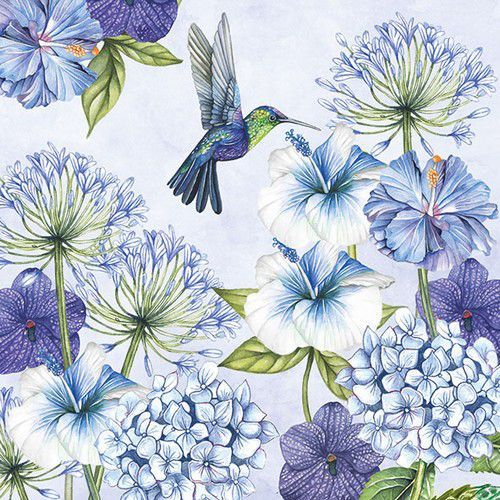 CraftEmotions servetten 5st - Hummingbird 33x33cm Ambiente 13313250