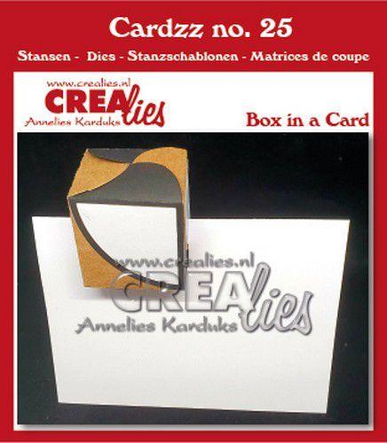 Crealies Cardzz Doosje in een kaart fits in most cardsizes
