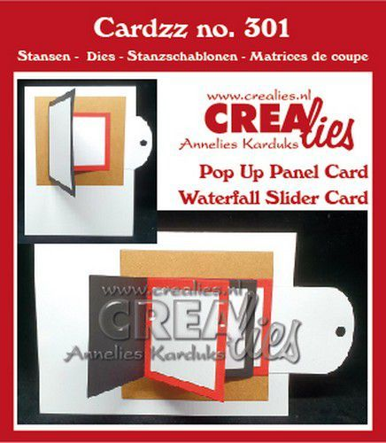 Crealies Cardzz Waterval schuifkaart + Omklap schuifkaart fits on most cardsizes