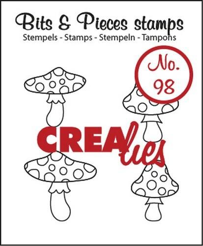 Crealies Clearstamp Bits&Pieces no. 98 mushrooms