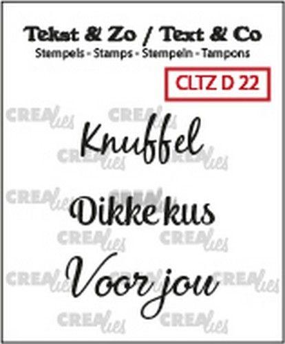 Crealies Clearstamp Tekst&Zo 3x Divers 22 (NL)  max. 30 mm