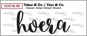 Crealies Clearstamp Tekst&Zo Hoera (NL)  62 x 27 mm