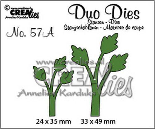 Crealies Duo Dies no.57a blaadjes 11 spiegelbeeld 33 x 49 mm 24 x 35 mm