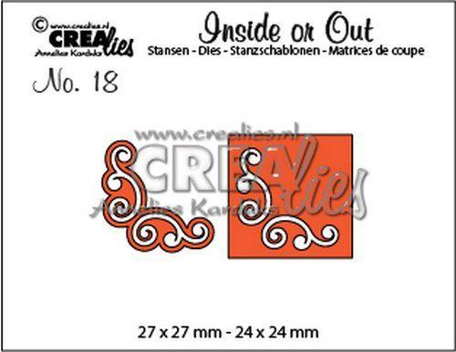 Crealies Inside or Out hoekjes L 27 x 27 mm - 24 x 24 mm