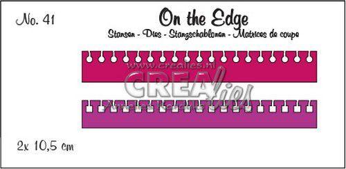 Crealies On the Edge no. 41 2x notitierand (rond en vierkant) 2x 10,5 cm