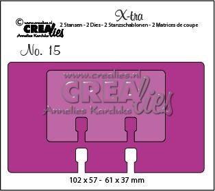 Crealies X-tra no. 15 memorydex + memorydex mini  102 x 57 mm -  61 x 37 mm