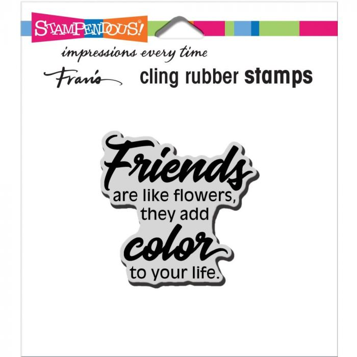 Stampendous Cling Stamp Friends Add Color