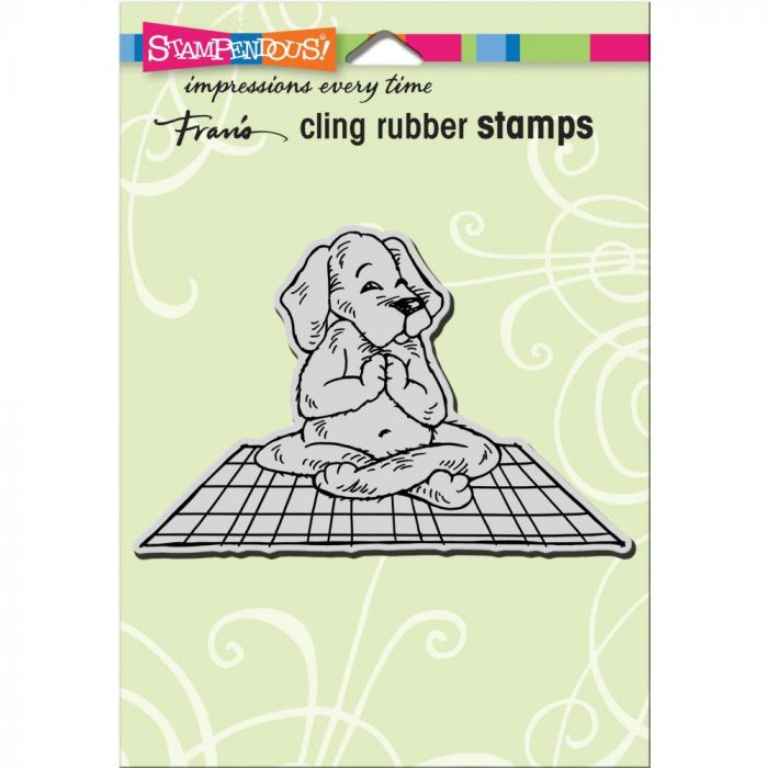 Stampendous Cling Stamp Yoga Dog