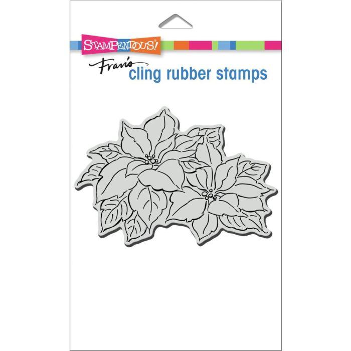 Stampendous Cling Stamp Precious Poinsettias