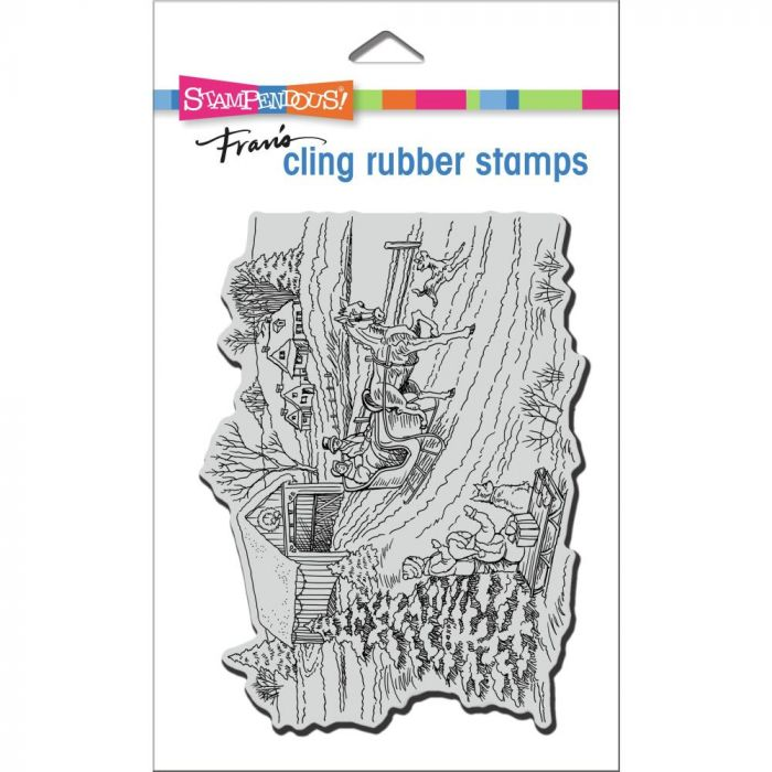 Stampendous Cling Stamp One Horse Sleigh