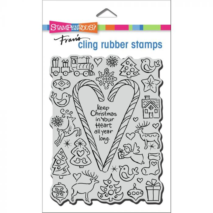 Stampendous Cling Stamp Santa Post