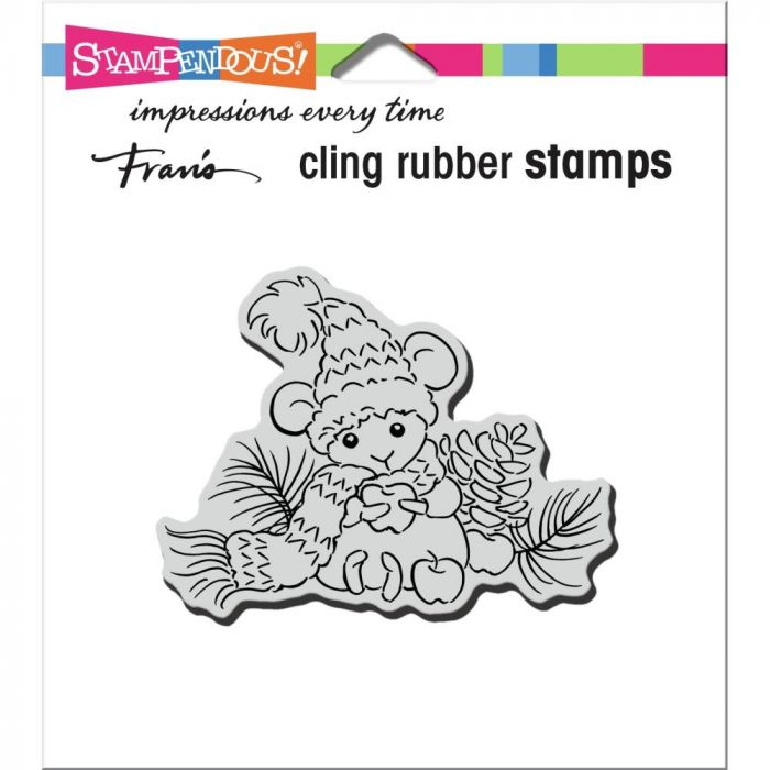 Stampendous Cling Stamp Apple Mouse