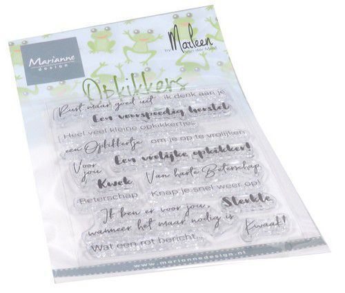 Marianne Design Clear Stamps Opkikkers by Marleen (NL) 182x117mm