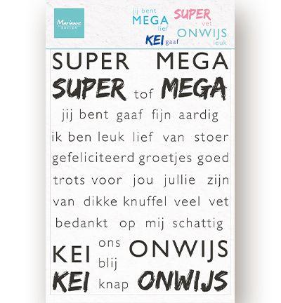 Marianne Design Clear Stamps SUPER-MEGA-KEI-ONWIJS (NL) 110x150mm