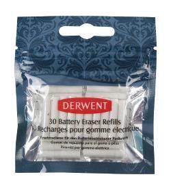 Derwent Replacement Erasers (30 stuks) voor Battery Operated Eraser