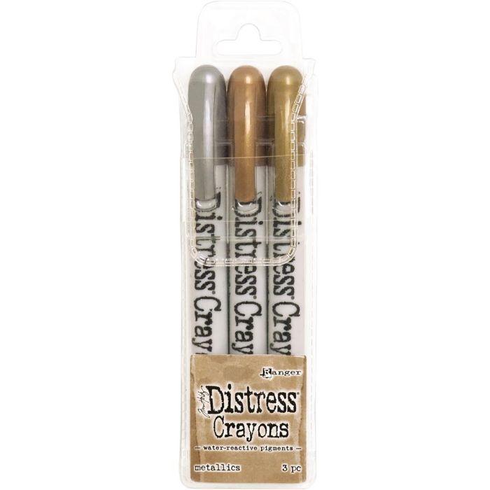 Tim Holtz Distress Crayon Set Metallic