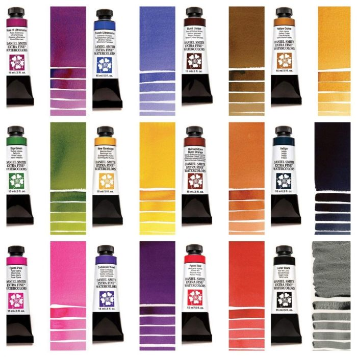 Daniel Smith Watercolour collectie Designers Choice 2019 12 tubes van 5 ml