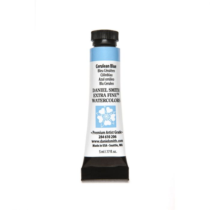 Daniel Smith extra fine watercolors Cerulean Blue 5ml