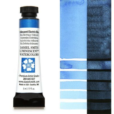 Daniel Smith extra fine watercolors Iridiscent Electric Blue 5ml