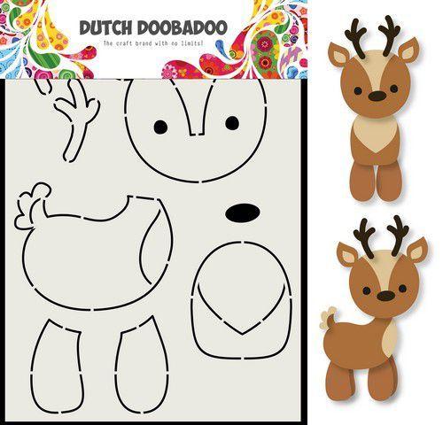 Dutch Doobadoo Card Art Rendier A5