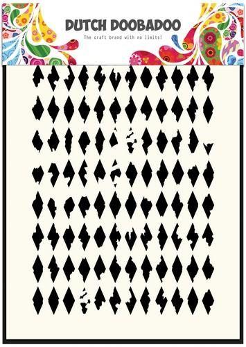 Dutch Doobadoo Dutch Mask Art stencil  Wyber ruit  A5