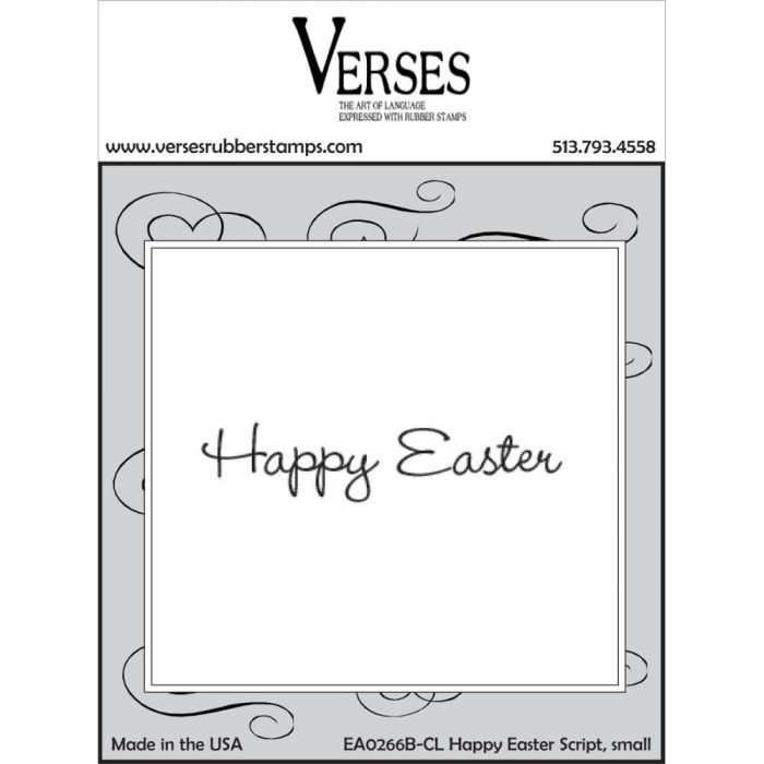 Verses Cling Mounted Rubber Stamp Happy Easter