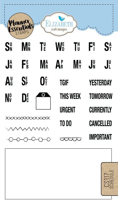 Elizabeth Craft Designs Schedule