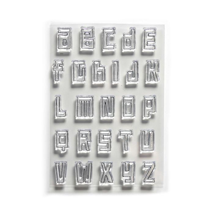 Traveler's Notebook Release from Art Journal stamp set Block Alphabet