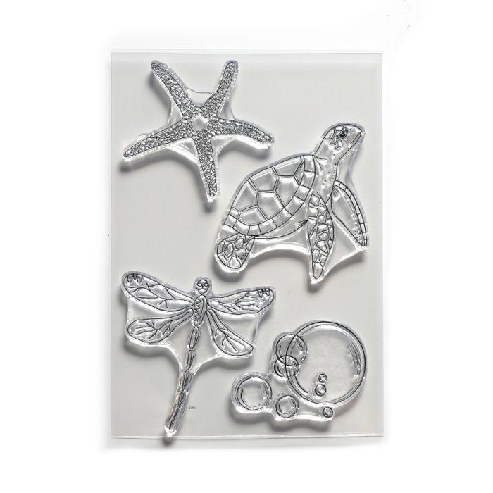 Traveler's Notebook Release from Art Journal stamp set Water Creatures