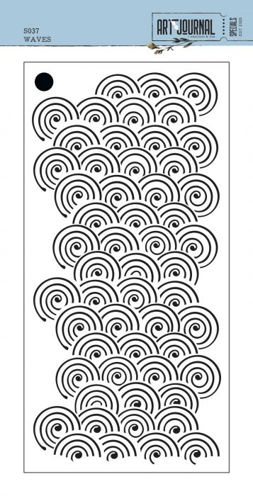 Traveler's Notebook Release from Art Journal stencil Waves