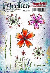 PaperArtsy stamps E³ Kay Carley 20 (A5 set, trimmed, on EZ)