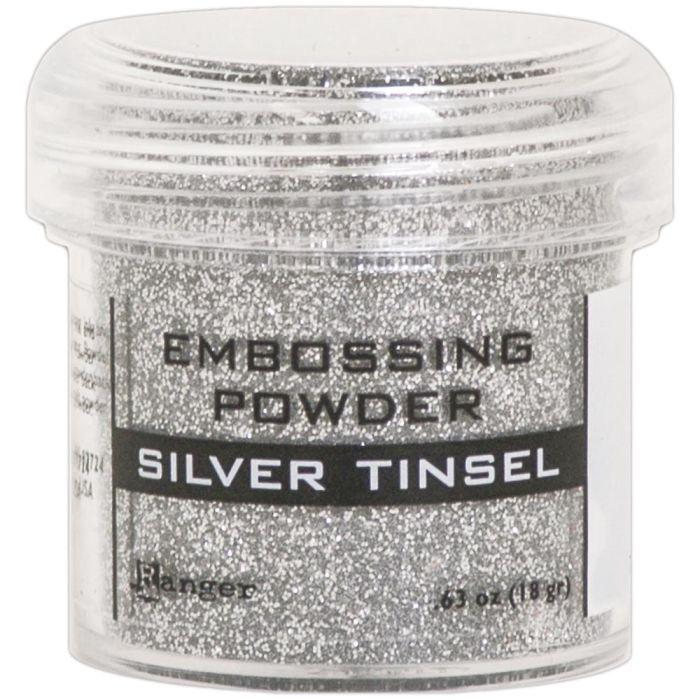 Embossing Powder Silver Tinsel