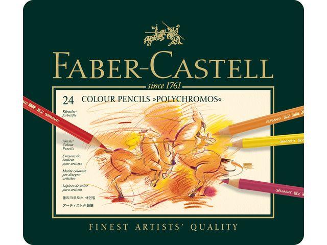 Faber Castell Polychromos - set Metalen etui a 24st.
