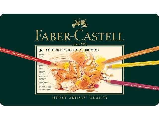 Faber Castell Polychromos - set Metalen etui a 36st