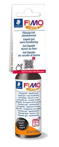 Fimo liquid deko gel 50 ML zwart