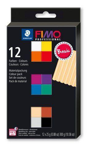 Fimo Professional colour pack 12 basis kleuren /12x25gr