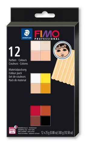 Fimo professional Doll art colour pack 12 st /12x25gr