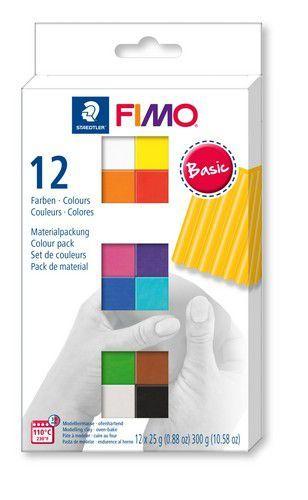 Fimo soft colour pack 12 basic colours /12x25gr