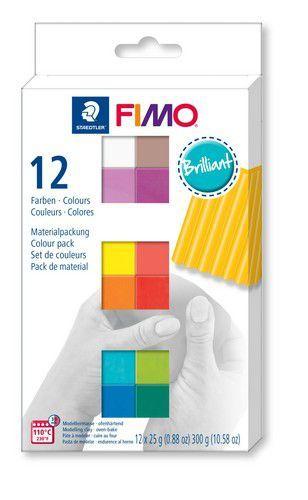 Fimo soft colour pack 12 brilliant colours /12x25gr