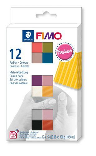 Fimo soft colour pack 12 fashion colours /12x25gr