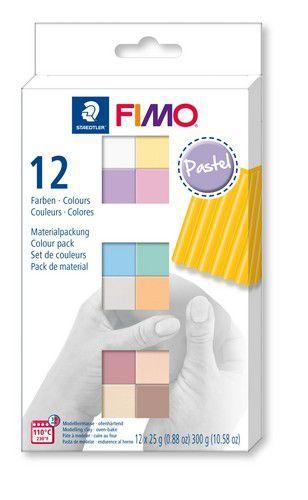 Fimo soft colour pack 12 pastel colours /12x25gr