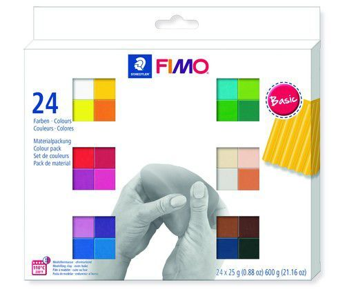 Fimo soft colour pack 24 basic colours /24x25gr
