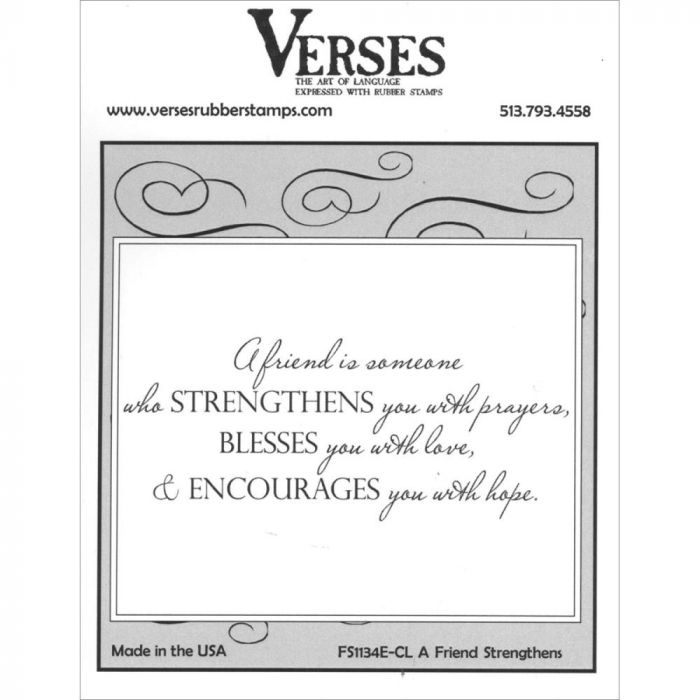 Verses Cling Mounted Rubber Stamp Friends Strenthens