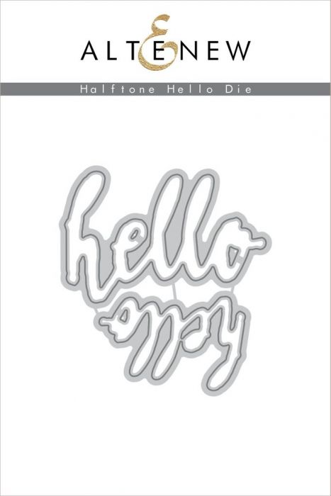 Altenew Halftone Hello Die Set