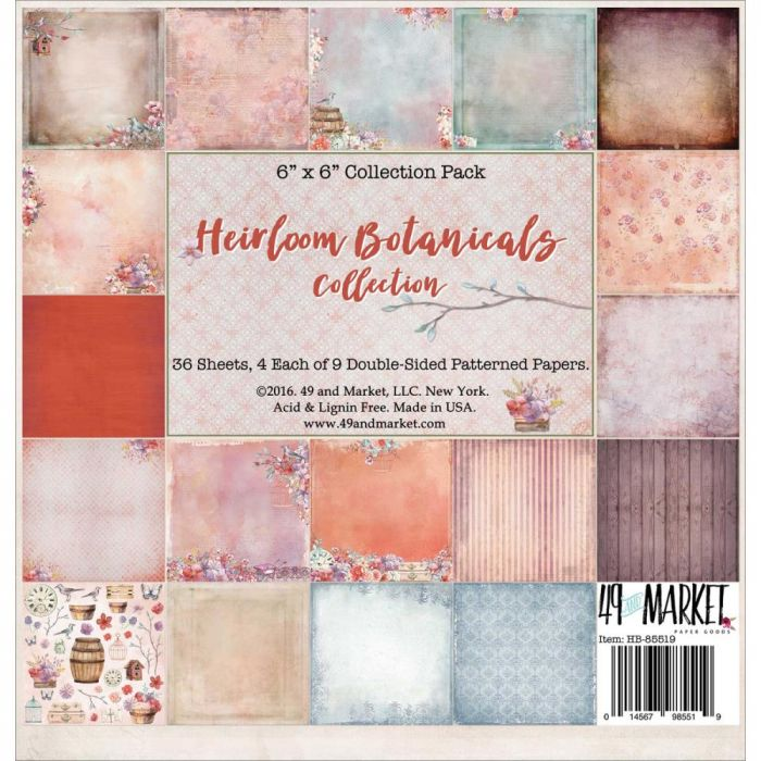 Heirloom Botanicals Collection Pack 4 Each Of 9 Designs