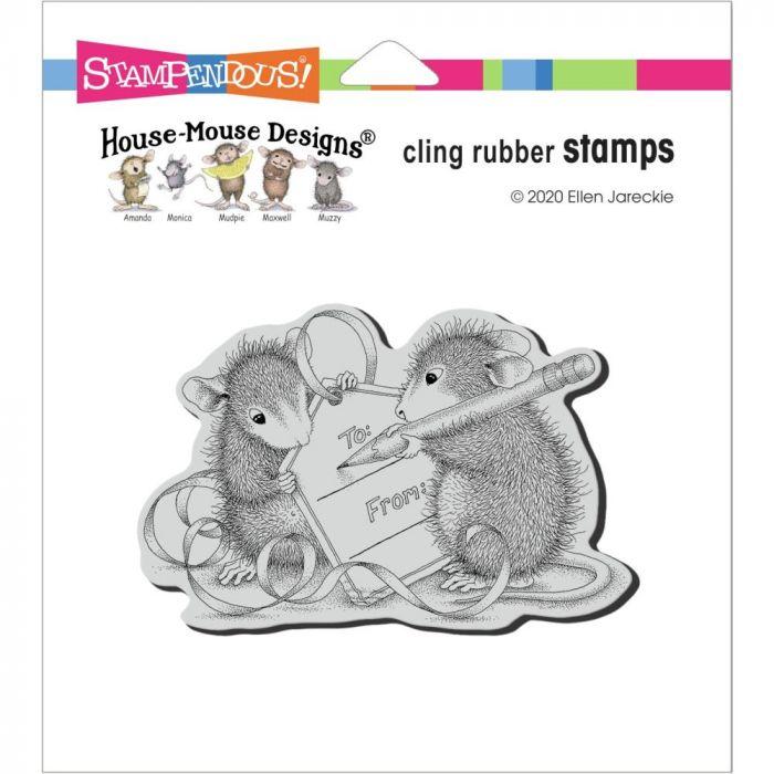 Stampendous House Mouse Cling Stamp Mouse Tag