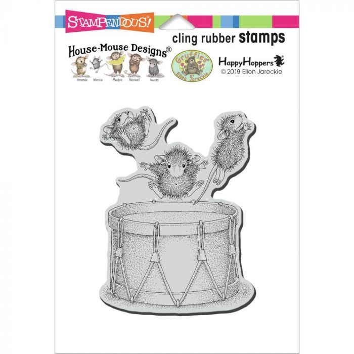 Stampendous House Mouse Cling Stamp Little Drummers