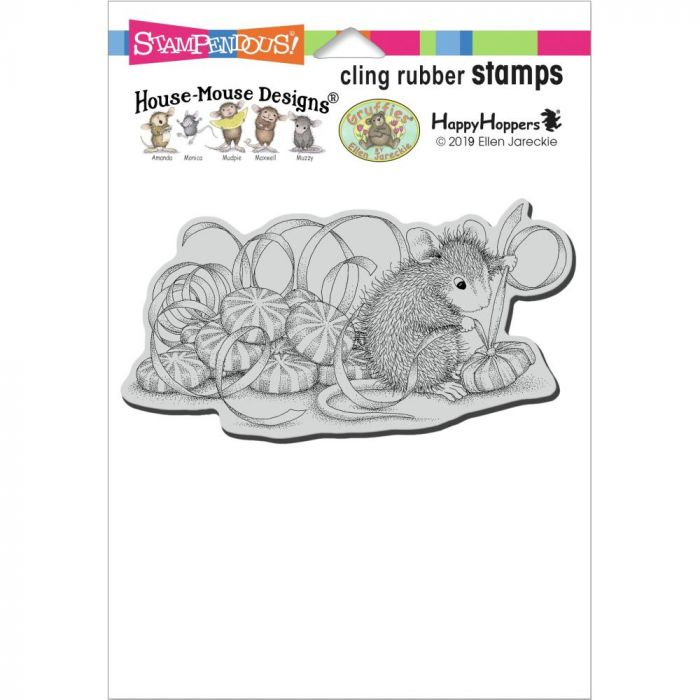 Stampendous House Mouse Cling Stamp Mint Gifts